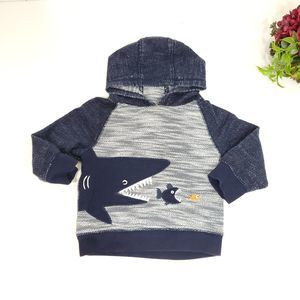 Gymboree 12-24 Month Pull Over Shark Hoodie